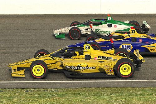 I got to race (and wreck) with IndyCar's best at virtual IMS