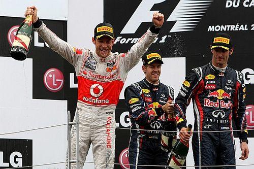 Vettel hibázott, Button könyörtelenül kihasználta: videó