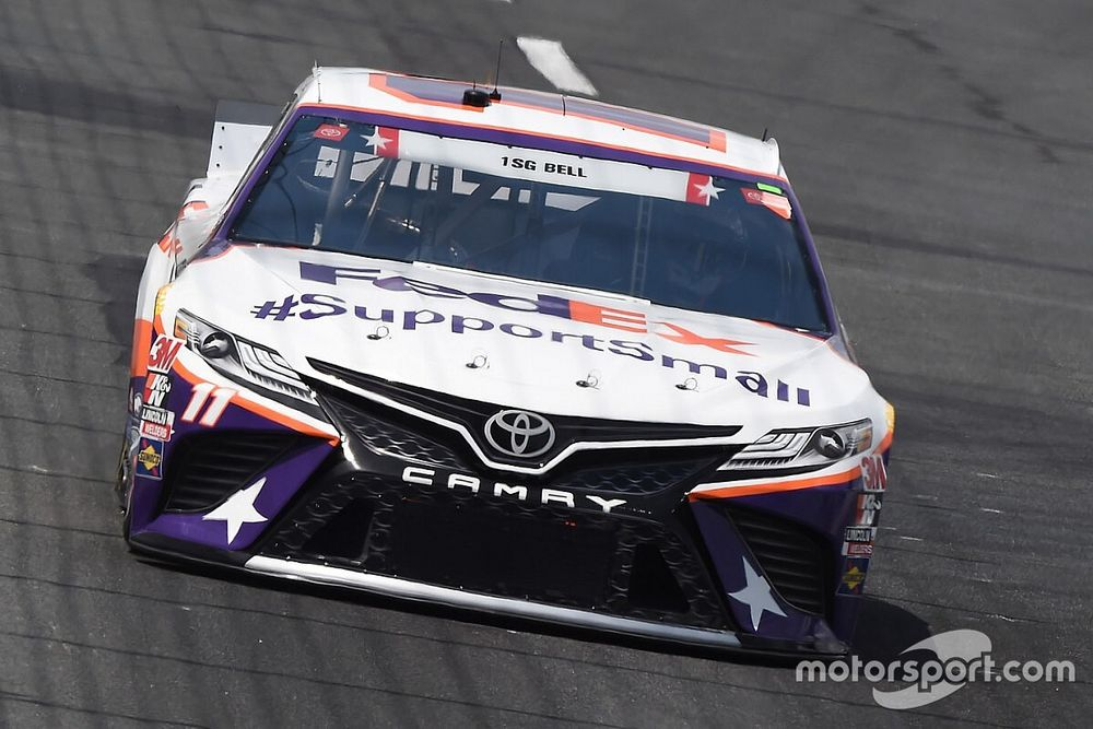 """Runner-up at Charlotte helps Hamlin in """"weathering the storm"""""""