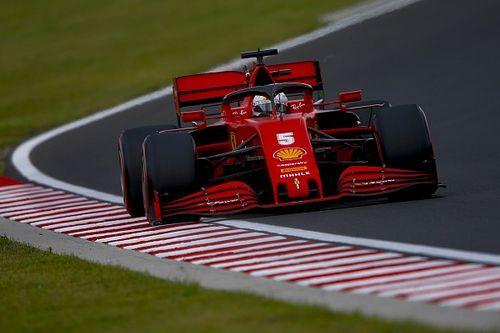 """Felizes com a terceira fila, Vettel e Leclerc colocam Ferrari """"mais próxima"""" das rivais"""