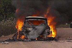 Видео: героическая борьба Лаппи за спасение горящей машины