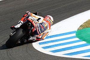 Marc Márquez lideró el warm up del GP de España