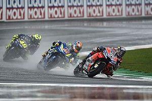 Valentino Rossis Tempo bei Starkregen besorgte Sieger Andrea Dovizioso