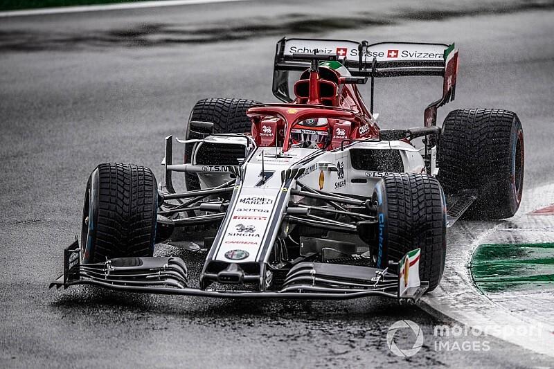 Raikkonen, contra los neumáticos de lluvia de la F1