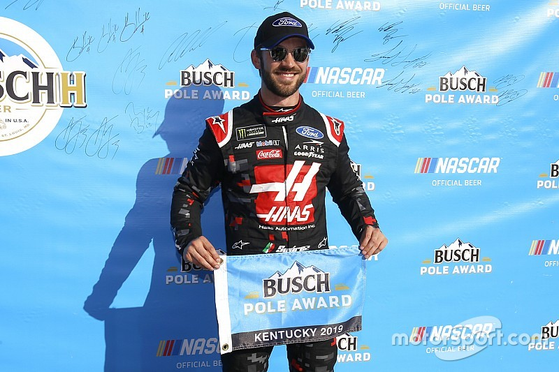 Daniel Suarez tops SHR teammate Almirola for Kentucky pole