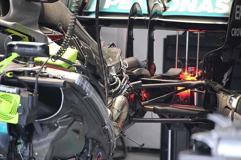Mercedes avec une évolution moteur à Spa-Francorchamps