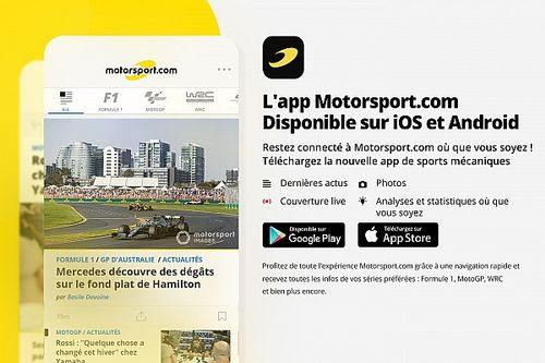 Motorsport.com lance sa nouvelle application mobile