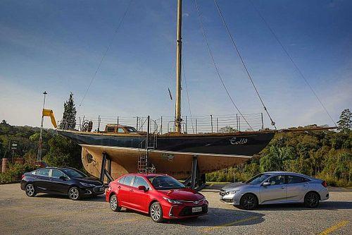 Comparativo: Novo Corolla 2.0 já enfrenta Civic e Cruze renovados