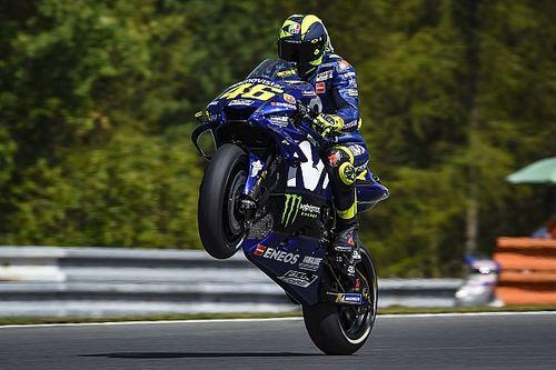 Rossi emerge con fuerza en el tercer libre en Brno; Viñales, a la Q1