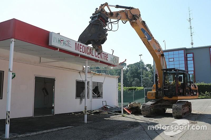 Imola: è iniziato lo smantellamento del Centro Medico dell'Enzo e Dino Ferrari