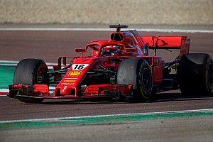 Leclerc y Sainz ruedan en el test aerodinámico de Ferrari en Imola