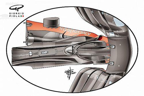 Segreto Ferrari: sotto al muso della SF21 c'è un doppio cape!