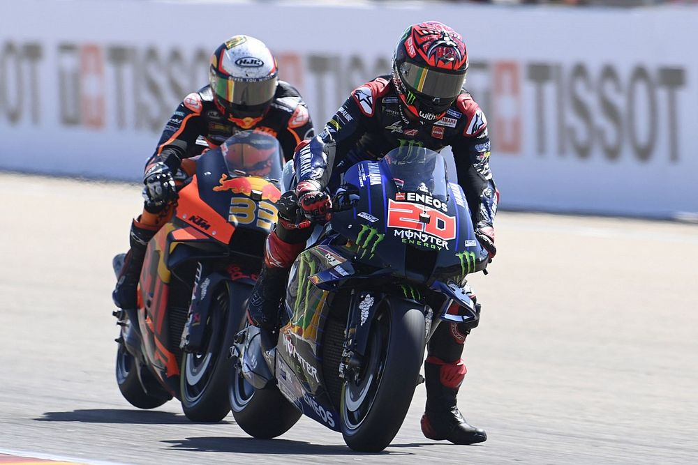 "Quartararo had ""raar gevoel"" met achterband in moeizame GP Aragon"