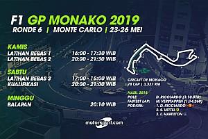 Jadwal lengkap F1 GP Monako 2019
