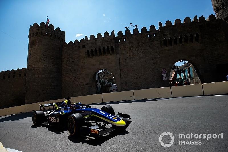 Fotostrecke: schweizer Ralph Boschung, Louis Delétraz und Sauber Junior Team am GP Aserbaidschan