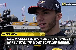"""Gasly maakt kennis met Zandvoort: """"Echt uitdagend voor F1-coureurs"""""""