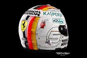 """Galería: Vettel estrena un casco """"Lego"""" para el GP de España"""