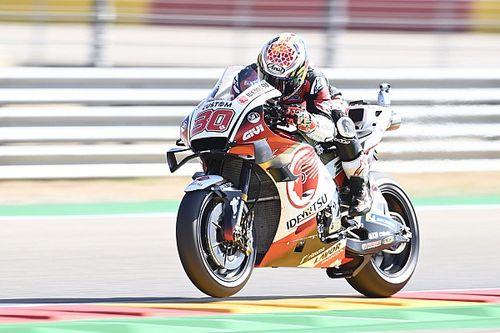 Aragon MotoGP: Nakagami ısınma seansında lider