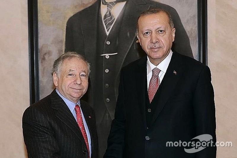 FIA Başkanı Todt, Cumhurbaşkanı Erdoğan ile görüştü
