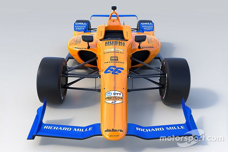 Bemutatták Alonso új Indy 500-as versenygépének festését