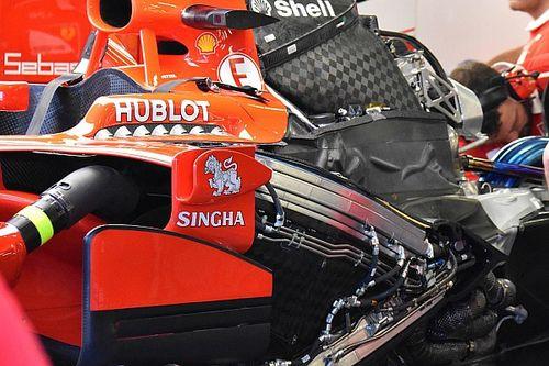 Motor Vettel onbeschadigd na startcrash in Singapore