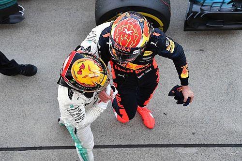 """Hamilton over Verstappen: """"Moet voorkomen dat hij te vaak wint!"""""""