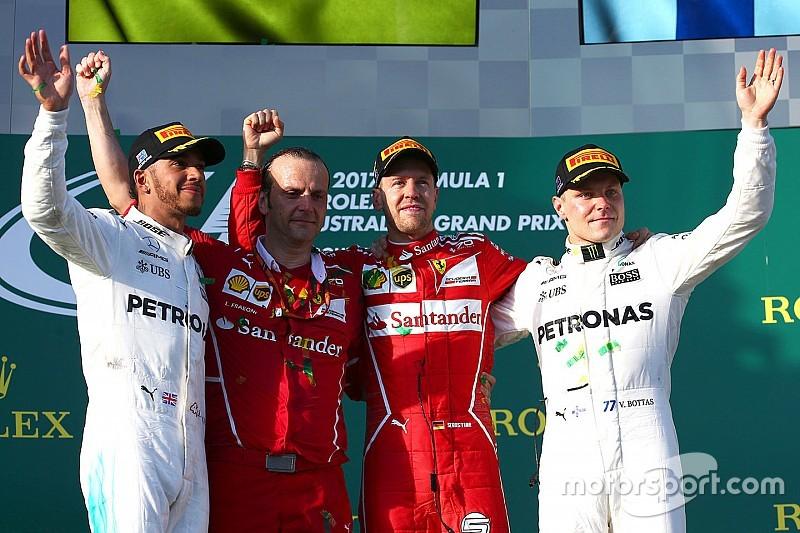 【F1】オーストラリアGP決勝:跳ね馬復活。ハミルトンに10秒差圧勝