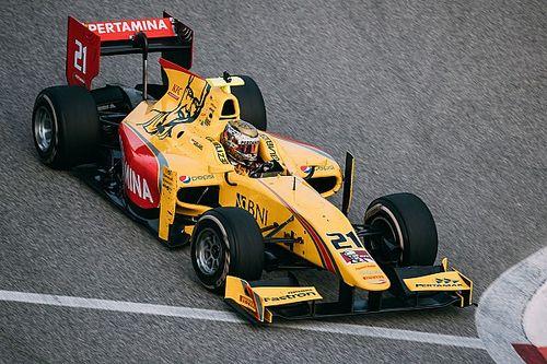 De Vries tercepat pada hari terakhir tes F2, Gelael P9