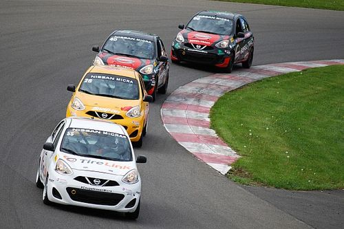 Round 3 of the Nissan Micra Cup at Mont-Tremblant circuit