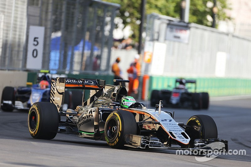 Sergio Perez picked a second podium finish of the season at Baku