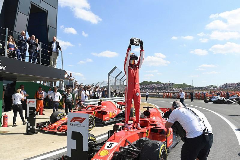 英国大奖赛:维特尔力压银箭双雄夺冠