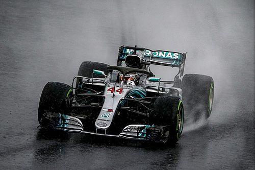 Palmer: La pluie met en lumière le talent naturel de Hamilton