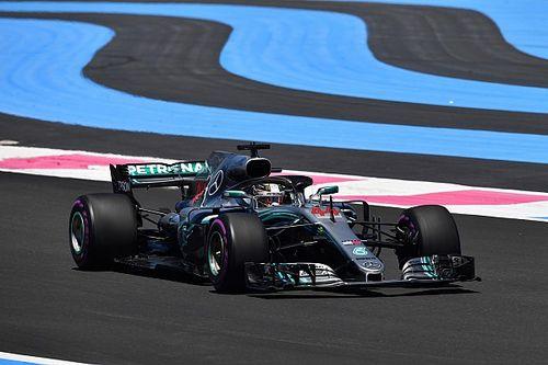 Hamilton ook rapste in tweede training Franse Grand Prix, derde tijd voor Verstappen