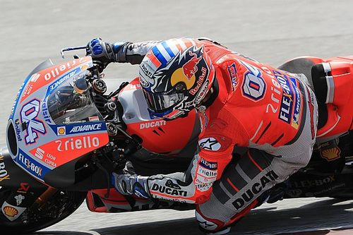 """Dovizioso pide mantener """"los pies en el suelo"""" por el ritmo de la Ducati"""