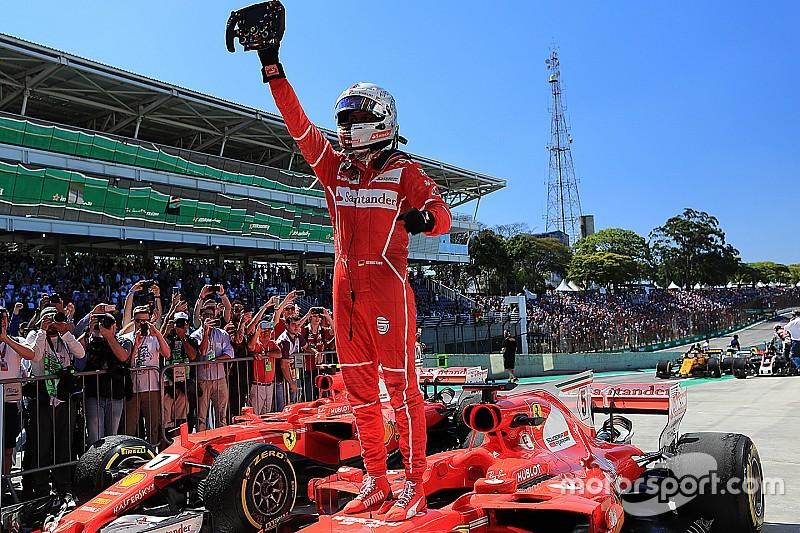 GP Brasil: Vettel dan Ferrari kembali menang, Hamilton P4