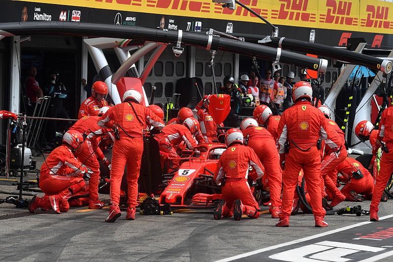 Almanya GP'nin en hızlı pit stopu Ferrari'den geldi