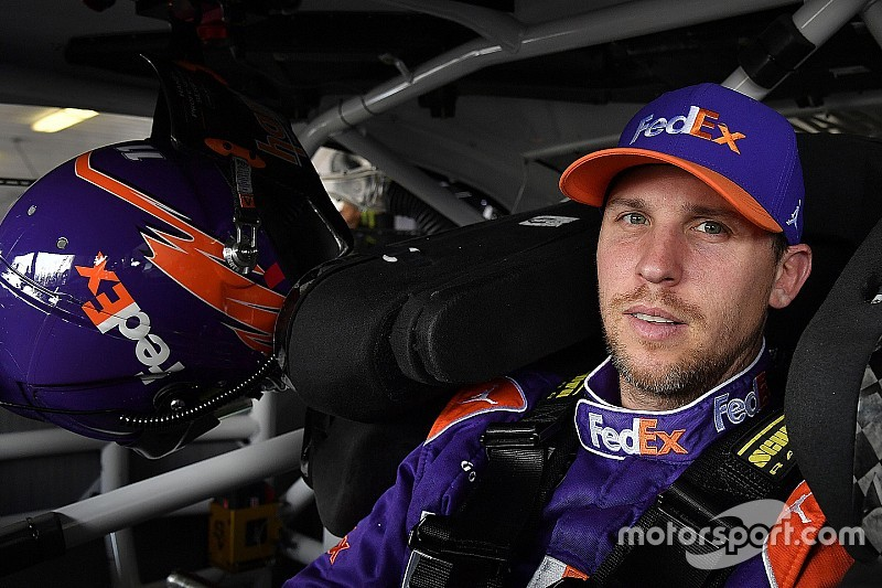 Denny Hamlin edges Kyle Busch for JGR front row lockout at Michigan