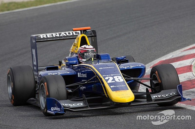 Jorg, Hughes lead DAMS 1-2 as GP3 testing concludes