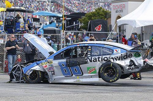 Massive pileup halts NASCAR Sprint Cup race at the Monster Mile - video