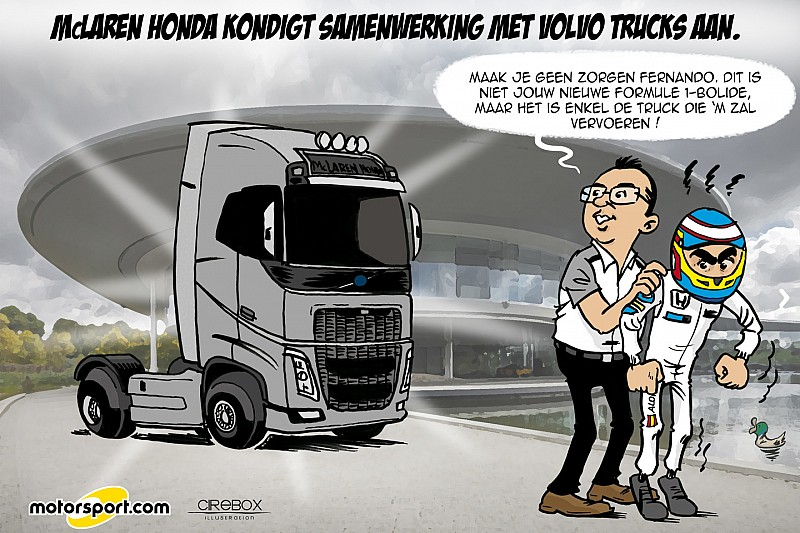 Cartoon van Cirebox: Alonso's nieuwe F1-bolide?