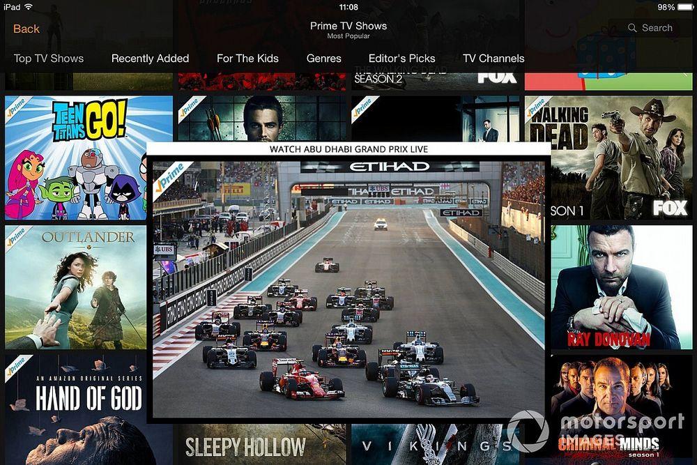 F1 e Amazon não descartam negócio em direitos de transmissão