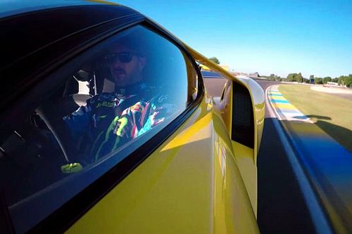 Ken Block takes Ford GT out for a spin at Le Mans