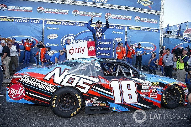 Keselowski pit penalty propels Kyle Busch to Xfinity win at NHMS