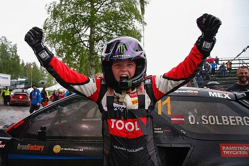 Solberg's son becomes youngest rallycross Supercar winner