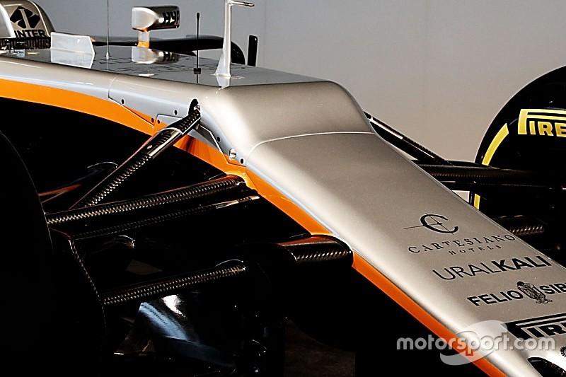 """Force India explica el """"desafortunado"""" morro del VJM10"""