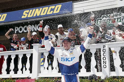 Keselowski wins Pocono Xfinity race with last-lap pass on Larson