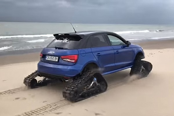 Auto Actualités Vidéo - Un Audi S1 à chenilles!