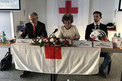 Alex Fontana testimonial della Croce Rossa in Svizzera