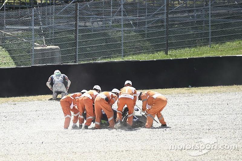 【MotoGP】転倒でバイク大破のビニャーレス「タイヤが硬すぎた」