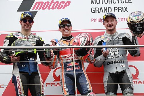 Australia MotoGP: Marquez wins after last-lap Vinales crash